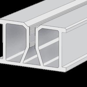 Legar aluminiowy z kanałem śrubowym