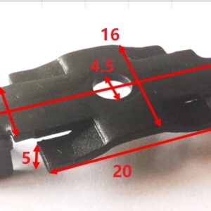 Klips TClip - 2  szczelina 5,5 mm
